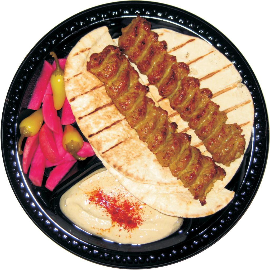 #2 Chicken Lula and Hummus