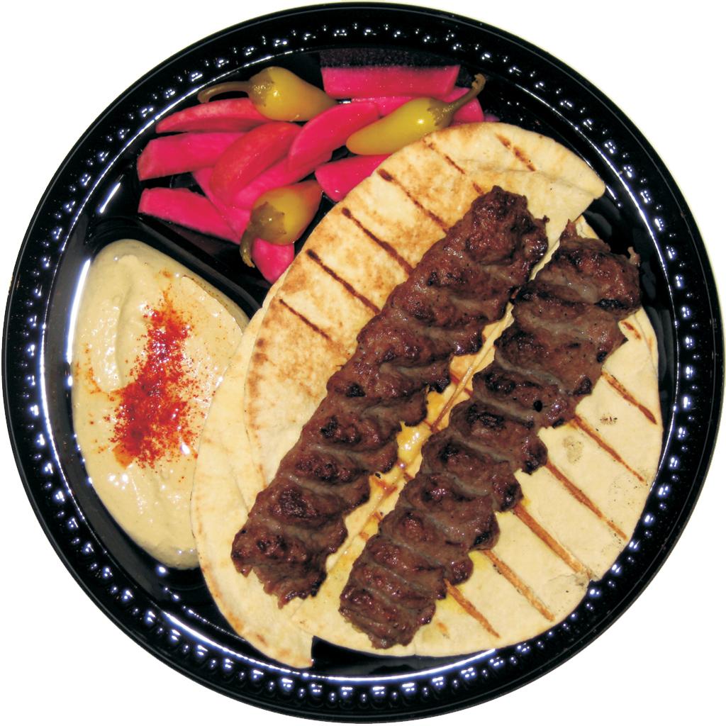 #3 Beef Lula and Hummus